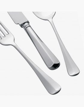 Silver Plated 124 piece Cutlery set Rattail design
