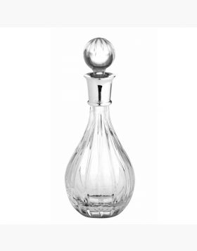 Crystal Wine decanter with Silver collar